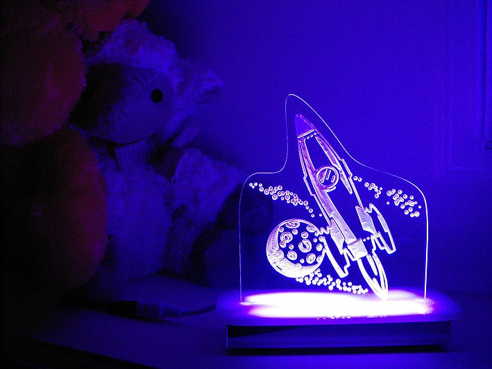 Outer Space Night Light Personalised Night Lights Comfy Kidz