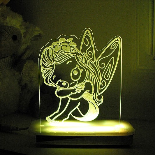 Lily Fairy Night Light Personalised Character Night