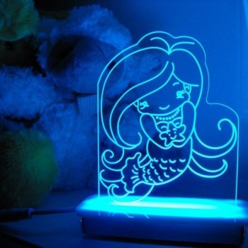 Coral Mermaid Night Light
