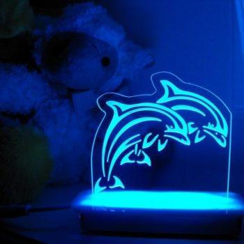 Dolphins Night Light