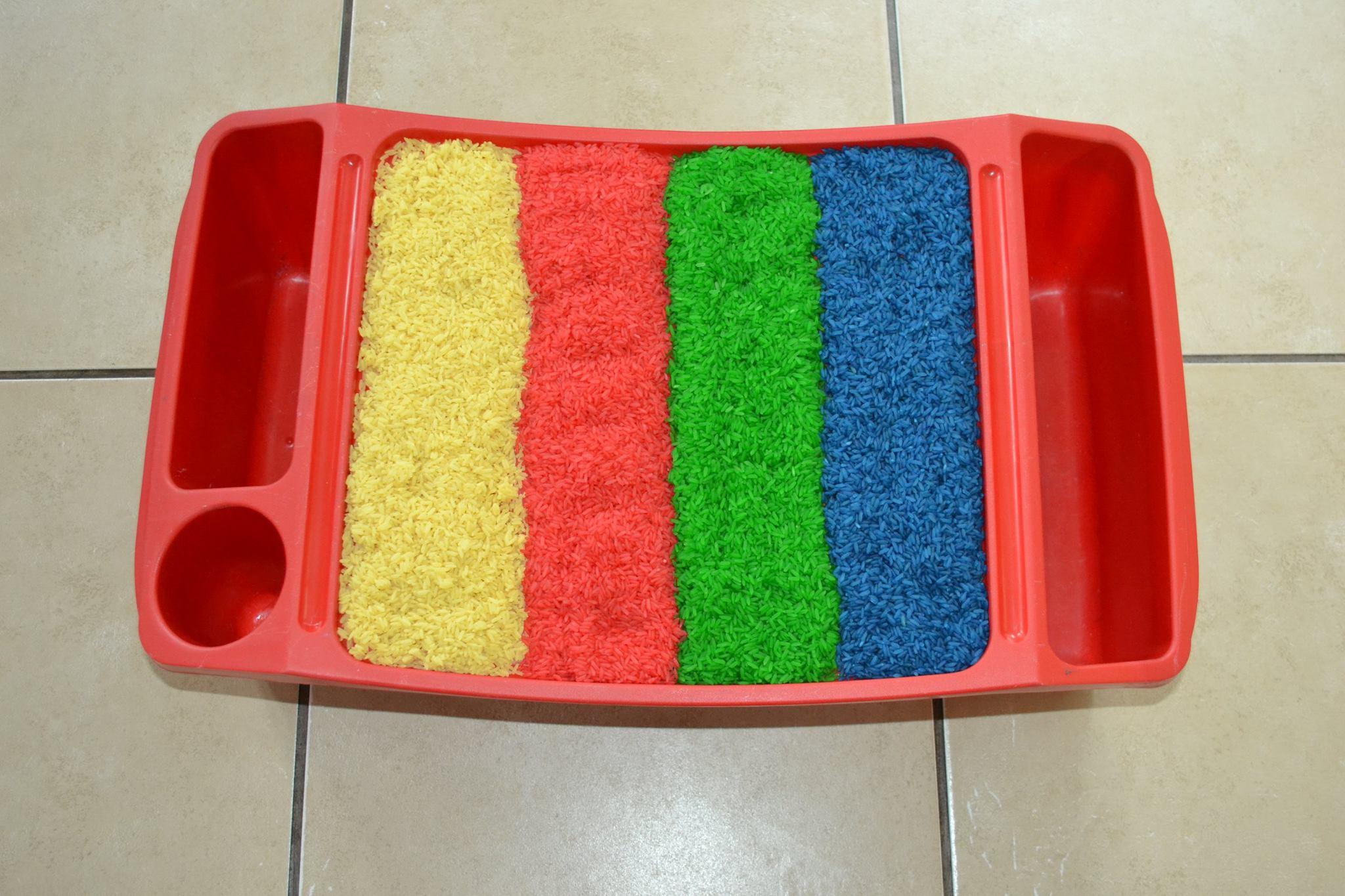 Rainbow Coloured Rice